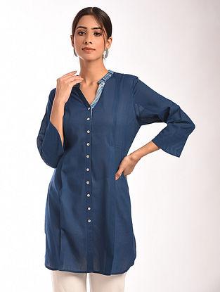 Indigo Shibori Cotton Tunic