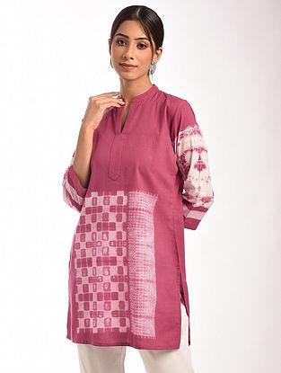 Pink Shibori Cotton Tunic