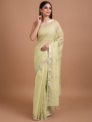 Green Handloom Maheshwari Silk Cotton Saree