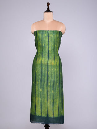 Green Shibori Chanderi Fabric