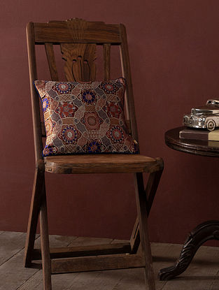 Chiyo Multicolored Silk and Viscose Cushion Cover (L - 12in, W - 12in)