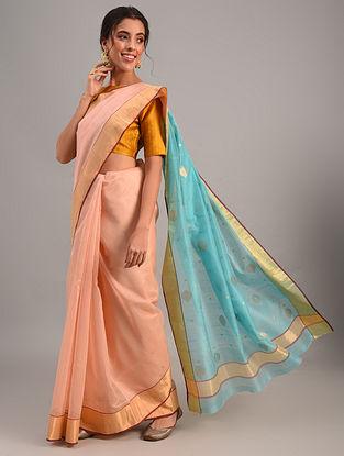 Pink Handloom Chanderi Cotton Silk Saree