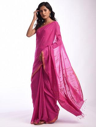Pink Jamdani  Handloom Cotton Saree