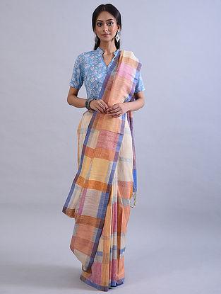 Multicolour Jamdani Handwoven Khadi Silk Saree