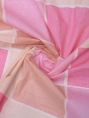 Pink Handblock Printed Cotton Yardage