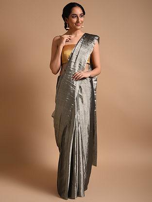 Silver Metallic Handwoven Tissue Saree