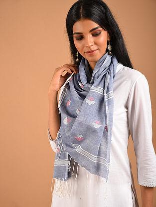 Grey Handwoven Jamdani Cotton Stole
