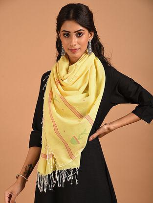 Yellow Handwoven Cotton Stole