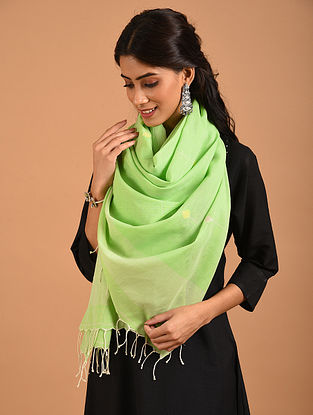 Green Handwoven Cotton Stole