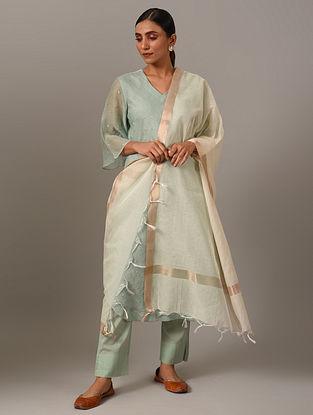 White Handwoven Cotton Dupatta