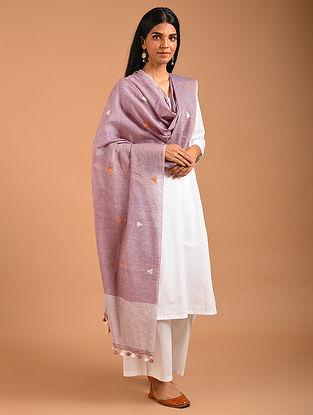 Purple Handwoven Cotton Dupatta