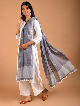 Grey Handwoven Jamdani Cotton Dupatta