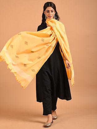 Yellow Handwoven Jamdani Cotton Dupatta