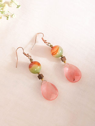 Multicolored Handcrafted Earrings With Quartz Haematite And Agate