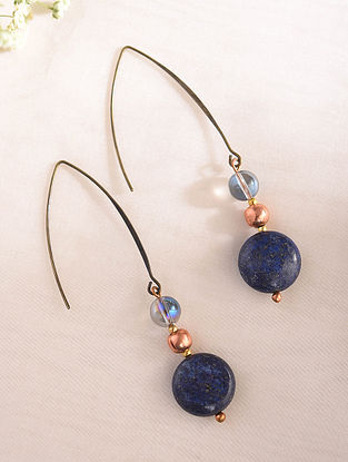 Blue Handcrafted Earrings With Lapis Lazuli