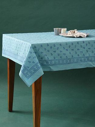 Multicolor Handblock Printed Cotton Table Cover (L - 58in, W - 58in)