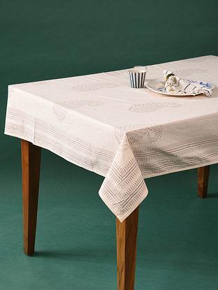 Multicolor Handblock Printed Cotton Table Cover (L - 60in, W - 58in)