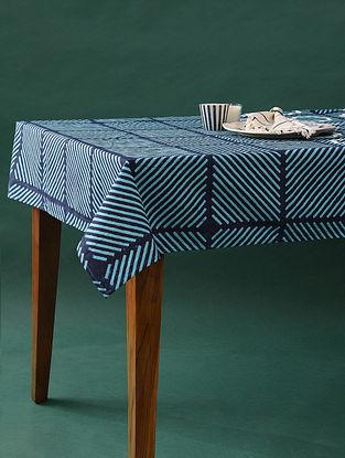 Multicolor Handblock Printed Cotton Table Cover (L - 90in, W - 57in)