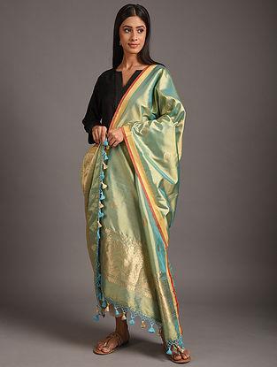 Green Kaduwa Weave  Benarasi Silk Dupatta
