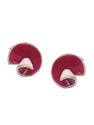 Purple Pink Silver Earrings For Kids
