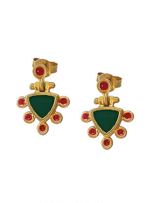 Green Red Gold Silver Earrings For Kids