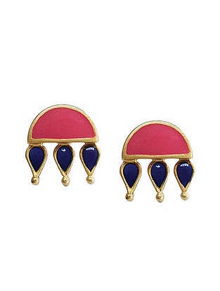 Pink Blue Gold Silver Earrings For Kids