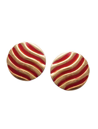 Red Gold Silver Earrings For Kids