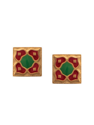 Red Green Gold Silver Earrings For Kids