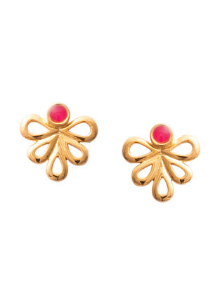 Pink Gold Silver Earrings For Kids