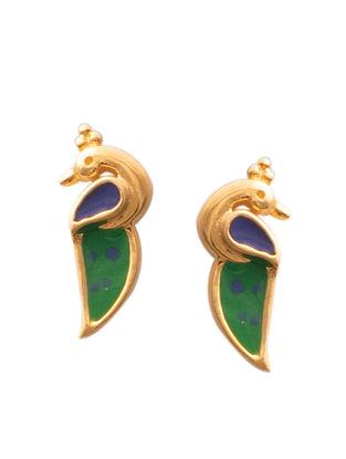 Green Blue Gold Silver Earrings For Kids