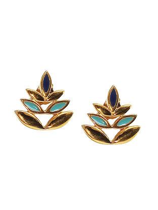 Blue Gold Silver Earrings For Kids