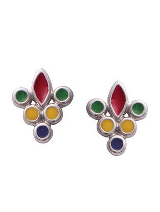 Multicolour Silver Earrings For Kids