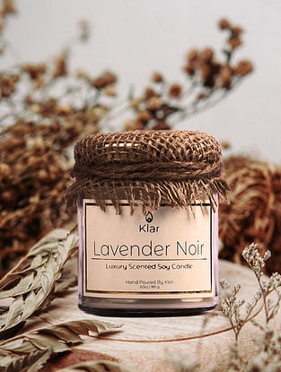 Lavender Noir - Luxury Scented Handpoured Soy Candle (6.3 oz)