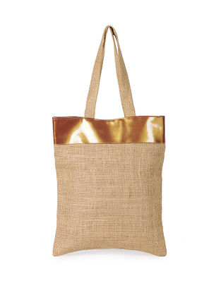 Copper Handcrafted Jute Tote Bag