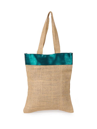 Green Handcrafted Jute Tote Bag