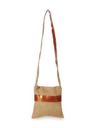 Copper Handcrafted Jute Sling Bag