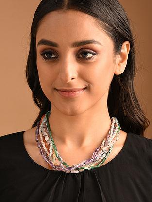 Multicolour Silver  Necklace with Multistone
