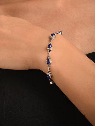 Silver Bracelet With Lapiz