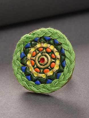 Green Blue Handcrafted Ring