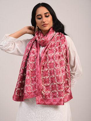 Pink Phulkari Cotton Stole