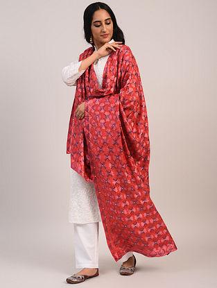 Pink Handwoven Crepe Silk Dupatta