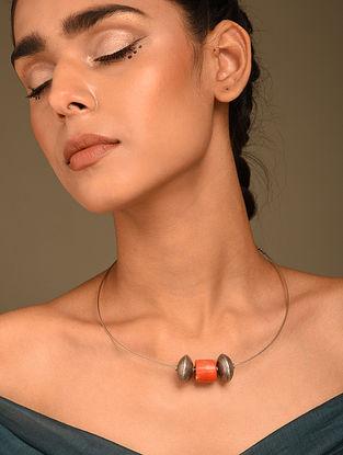 Vintage Silver Hasli Necklace with Coral