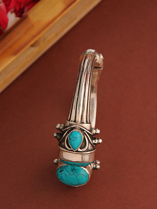Vintage Silver Cuff with Turquoise