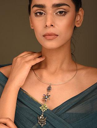 Multicolour Silver Hasli Necklace