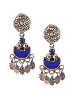Vintage Silver Glass Earrings