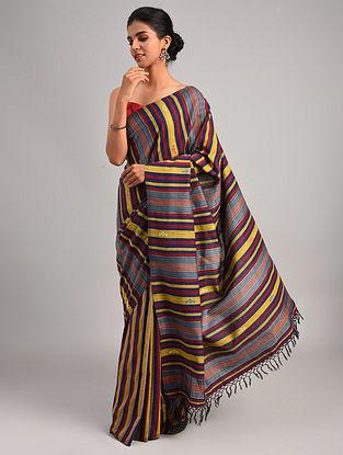 Multicolour Handwoven Cotton Eri Silk Saree