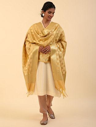 Gold Benarasi Silk Blend Dupatta