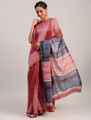 Multicolour Shibori Maheshwari Cotton Silk Saree