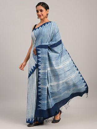 Blue Shibori Cotton Saree
