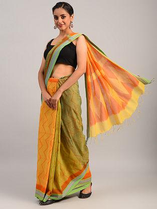 Multicolour Shibori Cotton Saree